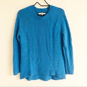 Ann Taylor LOFT Perforated Ribbed Soft Sweater